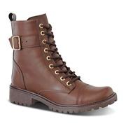b8cde6756a Bota Coturno Prime Shoes Cano Alto - Feminina …