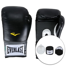 fe2cbacbb -3%. Kit de Boxe Everlast  Bandagem + Protetor Bucal + Luvas de Boxe  Training - 12 OZ - Adulto