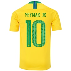 0da2710411 Camisa da Seleção Brasileira I 2018 Nike nº 10 Neymar Jr. - Juvenil