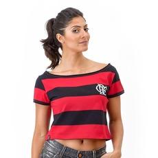 a0b99749f3 Camiseta do Flamengo Retrô Baby Look Cropped - Feminina