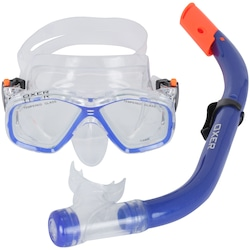 Kit Mergulho: Snorkel e Máscara de Mergulho Oxer Fun Pack - Infantil - AZUL
