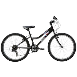 Bicicleta Oxer Splash - Aro 24 - Freio V-Brake - Câmbio Traseiro Shimano - 21 Marchas - PRETO/ROSA