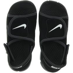 Papete Nike Sunray Adjust 4 - Infantil - PRETO/CINZA ESC