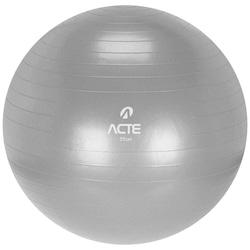 Bola de Pilates Suíça Acte Sports com Bomba de Ar - 55cm - CINZA