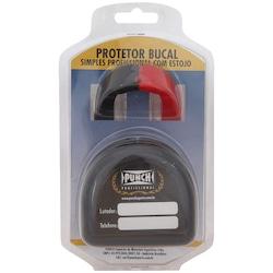 Protetor Bucal Punch Dual Color com Estojo - PRETO/VERMELHO