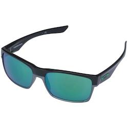 Óculos de Sol Oakley Twoface Iridium OO9189 - Unissex - PRETO/VERDE