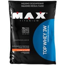Top Whey 3W - 1,8 Kg - Sabor Vitamina de Frutas - Max Titanium