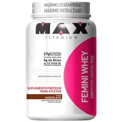 Whey Protein Max Titanium Femini Whey - Chocolate - 900g