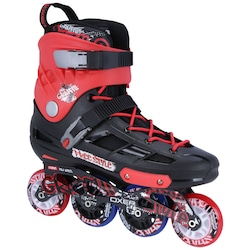 Patins Oxer Graffiti - In Line - Freestyle - ABEC 7 - Adulto - PRETO/VERMELHO