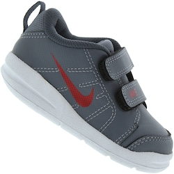 Tênis Nike Pico LT BB - Infantil - CINZA ESC/VERMELHO