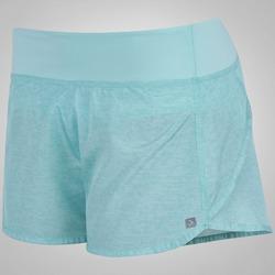 Shorts Oxer Recorte Bicolor - Feminino - AZUL CLARO