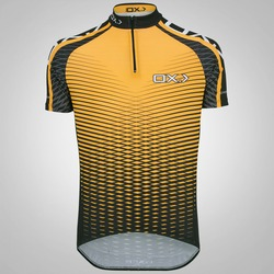 Camisa de Ciclismo Oxer Vetor - Masculina - LARANJA/PRETO