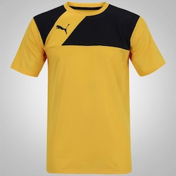 Camiseta Puma Jersey - Masculina - Amarelo/Preto