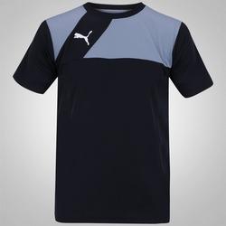 Camiseta Puma Jersey - Masculina - PRETO/BRANCO