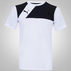 Camiseta Puma Jersey - Masculina - BRANCO/PRETO