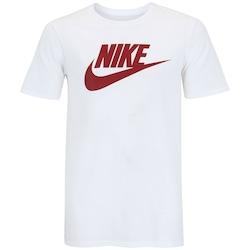 Camiseta Nike Futura Icon - Masculina - BRANCO/VERMELHO