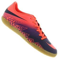 Chuteira Futsal Nike Hypervenom Phelon II - Adulto - Laranja Esc/Roxo
