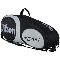 Raqueteira Wilson Team 6 Pack - Adulto - PRETO/BRANCO