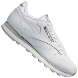 Tenis Reebok Classic Leather - Masculino - BRANCO/CINZA