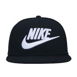 Boné Aba Reta Nike Futura True - Snapback - Infantil - PRETO/BRANCO
