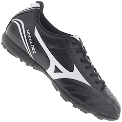 Chuteira Society Mizuno Morelia Neo Club AS - Adulto - PRETO/BRANCO