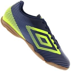 Chuteira Futsal Umbro Speed II - Adulto - AZUL ESC/VERDE CLA
