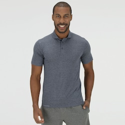 Camisa Polo Oxer Button In - Masculina - AZUL ESCURO