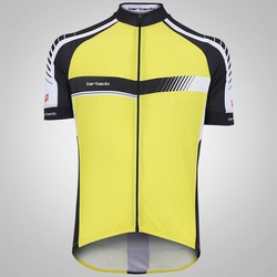 Camisa de Ciclismo Barbedo Draft - Masculina - Amarelo/Preto