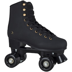 Patins 4 Rodas Oxer Secret Retrô - Quad - Adulto - PRETO/OURO