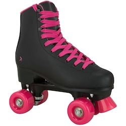Patins 4 Rodas Oxer Secret Retrô - Quad - Adulto - PRETO/ROSA
