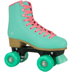 Patins 4 Rodas Oxer Secret Retrô - Quad - Adulto - Verde Cla/Marrom