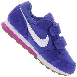 Tênis sem Cadarço Nike MD Runner 2 com Duas Tiras em Velcro - Infantil - AZUL/BRANCO