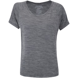 Camiseta Oxer Cropped Bruni - Feminina - CINZA
