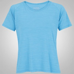 Camiseta Oxer Cropped Bruni - Feminina - AZUL CLARO