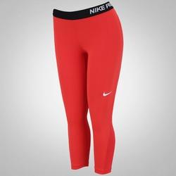 Calça Capri de Suave Compressão Nike Pro Cool - Feminina - LARANJA ESC/BRANCO