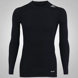 Camisa de Compressão Manga Longa adidas TechFit™ Base - Masculina - PRETO