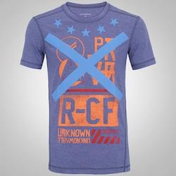 Camiseta Reebok RCF Blend T V2 - Masculina - AZUL ESCURO