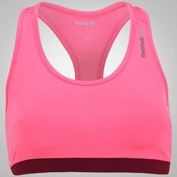 Top Fitness Reebok F Wor SH - Feminino - ROSA