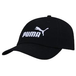 Boné Aba Curva Puma Ess - Strapback - Adulto - PRETO/BRANCO