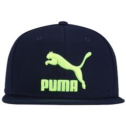 Boné Aba Reta Puma Ls Colour Block - Snapback - Adulto - Azul Esc verde Cla 2d7d9eeffa5