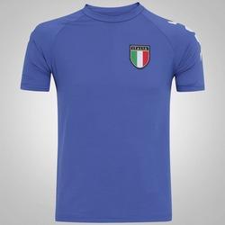Camiseta Itália Kappa Kombat Basic - Masculina - AZUL