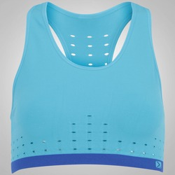 Top Fitness Oxer Seamless Perforated - Adulto - AZUL CLA/AZUL