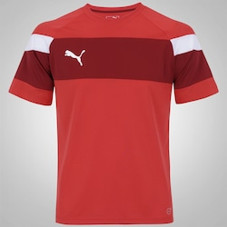 Camisa Puma Train Jersey Spirit II - Masculina - VERMELHO/BRANCO