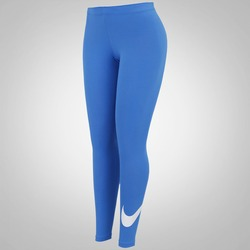 Calça Legging Nike Club Logo - Feminina - AZUL