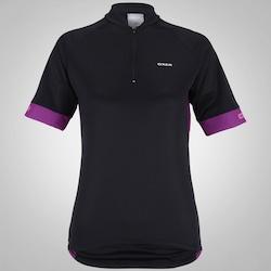 Camisa de Ciclismo Oxer Spin - Feminina - PRETO/ROXO