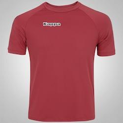 Camisa Kappa Kombat Lettering - Masculina - VERMELHO