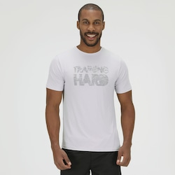 Camiseta com Proteção Solar Oxer Training Hard - Masculina - CINZA CLARO
