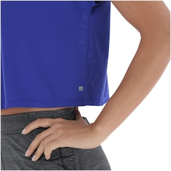 Camiseta Oxer Cropped Dry - Feminina - AZUL ESCURO