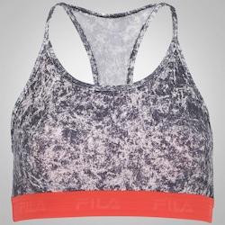 Top Fitness Fila Elastic - Adulto - Bege/Preto