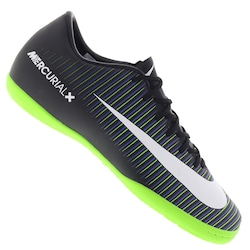 Chuteira Futsal Nike Mercurial Victory VI IC - Adulto - PRETO/VERDE CLA